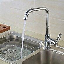 Coroto 2017 Das neue Design Küchenarmatur rotierenden Chrom Silber schwenkbare Waschbecken Mischbatterie Hochwertige polierte Wasserhahn