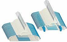 CORTEC Kleiderbügel 30 Stück, Kombi-Bügel aus