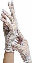 Cosanter Damen Hochwertige Spitze Sommer Sonnenschutz Handschuhe spitzenhandschuhe Brauthandschuhe Weiß