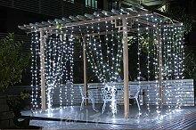Cosanter Lichterkette Transparent Linie 4mm Kupferdraht Weihnachtsdeko 96 LED 3.5 Meter Length Lichterketten Garten Weihnachtsbeleuchtung (Transparent Kabel )