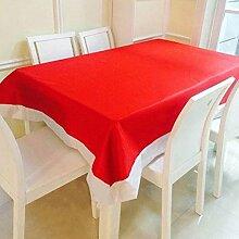 Cosanter Weihnachten Tischdecke Tischläufer Rot Weihnachtstischdecke Abwaschbar Größe 208x132 cm