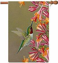 Coskaka Frühling Kolibri und Blumen Willkommen