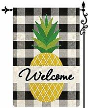 Coskaka Willkommen Sommer Obst Ananas Garten