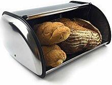 Cosmo Home Brotkasten aus Edelstahl - Brotbox mit