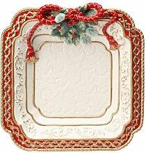 Cosmos Gifts Essteller mit Weihnachtsstern, 27,9 cm