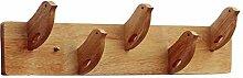 COSS Coat Rack Massivholz (ohne Nagel) Haken, Stark Viscose Creative Gravur Wandhaken Klassische Kleiderbügel