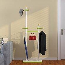 COSS Coat Racks Doppelständer Single Pole Metal Hangers Fashion Creative Kleider Regale Massivholz Haken (177cm) Klassische Kleiderbügel
