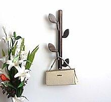 COSS Holz Kreativ Coatrack Wohnzimmer Wandaufhänger Halle Eingang Einfache Holzboden Hängende Wand Hängehaken Klassische Kleiderbügel ( Farbe : C )