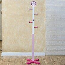 COSS Kinder Kleiderständer, Boden, Cartoon Schlafzimmer, Wohnzimmer, Kleiderständer Klassische Kleiderbügel ( Farbe : Pink )