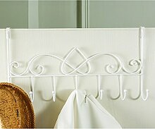 COSS Kleiderbügel Bügeleisen Kreative Einfache Wandbehang Kleiderständer Klassische Kleiderbügel ( Farbe : Weiß , größe : A )