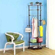 COSS Kleiderschrank Landing Schlafzimmer Regal Creative Coat Racks Corner Hangers Klassische Kleiderbügel ( Farbe : B )
