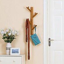 COSS Kleiderständer aus massivem Holz hängende Wand Einfache Ideen Einhängegestelle Klassische Kleiderbügel