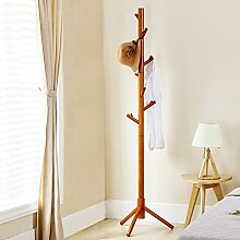 COSS Kleiderständer Echtholzboden Wohnzimmer Schlafzimmer Bodenbelastbar Stark Kleiderbügel Kleiderbügel 7 Haken Klassische Kleiderbügel