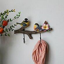 COSS Kleiderständer Hausgarten Vogel Dekorative Haken Wand Kleiderbügel Schlüsselhalter Kreative Kleidung Mantel Haken Klassische Kleiderbügel ( Farbe : I )