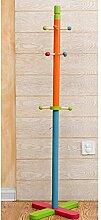 COSS Kleiderständer Massivholz Kinderhochstuhl Hängeschränke Landing Creative Racks Klassische Kleiderbügel ( Farbe : Bunte )