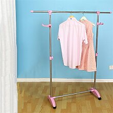 COSS Mantel Racks Landing Single Pole Movable Hangers (drei Farboptionen) Klassische Kleiderbügel ( Farbe : Pink )