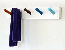 COSS Massivholz Kiefer Wandaufhänger Mehr Haken Bunte Log Coat Racks Creative Hangers Klassische Kleiderbügel