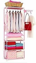 COSS Multifunktions-Mantel Rack Boden Kleiderbügel Hanging Clothes Rack Regale Klassische Kleiderbügel ( Farbe : Pink )