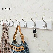 COSS Schlafzimmer Wand Haken, Creative Home Coat Rack, Wand hängen Massivholz Hängen Haken Klassische Kleiderbügel ( Farbe : Weiß , größe : 8 )