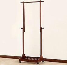COSS Solide Wooden Coat Racks, Schlafzimmer Kleiderständer Einfache Wohnzimmer Creative Adjustable Hanging Hanger Klassische Kleiderbügel