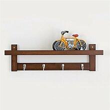 COSS Wandregal, einfaches Wohnzimmer Creative Hook Coat Rack, Massivholz Wand hängen Klassische Kleiderbügel ( Farbe : Retro Farbe , größe : 4 )