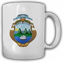 Costa Rica Wappen Emblem República de Costa Rica - Tasse Becher Kaffee #13456