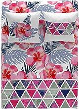 COSTURA Tagesdecke Bouti VILY, Baumwolle, bunt, für Einzelbetten, 10x 40x 50cm