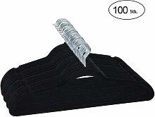 COSTWAY 100Stk. Samt Kleiderbuegel, Anzugbuegel