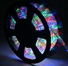 COSTWAY 10M LED Lichterschlauch Lichtschlauch Lichterkette für Außen und Innen mit 360 LEDs Weihnachtsbeleuchtung Weihnachten Deko (Bunt)