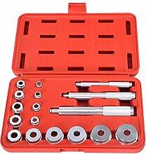 COSTWAY 17tlg. Radlager Abzieher Werkzeug Set Lagertreibsatz Radlagerabzieher Buchsenabzieher Buchsen Simmerring Montage