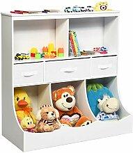 COSTWAY 3 Ebenen Kinderregal, Spielzeugregal mit 5