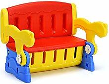 COSTWAY 3 in1 Kinder Sitztruhe, Kindertisch mit