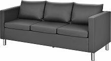 Costway 3-Sitzer Modernes Sofa Wohnzimmersofa