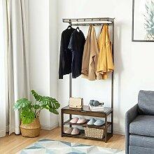 COSTWAY 3in1 Garderobenstaender Sitzbank 3 Ebenen