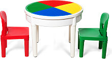 Costway 3tlg. Kinder Tischset Kindersitzgruppe