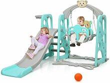 COSTWAY 4 in 1 Kinder Spielplatz, Kinder Rutsche