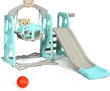 Costway 4 in 1 Kinder Spielplatz Kinder Rutsche &
