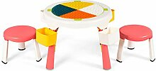 COSTWAY 5 in 1 Kindersitzgruppe, Kinder Spieltisch