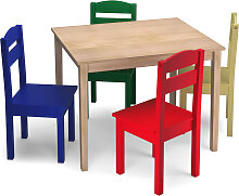 Costway 5 tlg. Kindersitzgruppe Kindertischgruppe