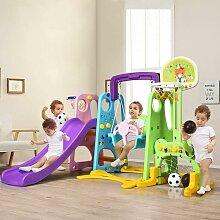 COSTWAY 6 in 1 Kinder Spielplatz, Kinder Rutsche &