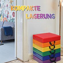 Costway 6er Set Kinder Quadratische Stuhlkissen