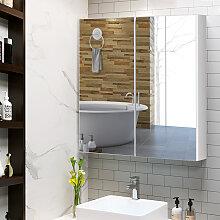Costway Badezimmer Spiegelschrank Wandschrank