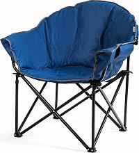Costway Camping Faltstuhl Übergroßer Moon Chair