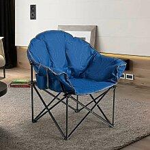 COSTWAY Campingstuhl Gepolsterter Moon Chair,