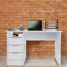 COSTWAY Computertisch mit 3 Schubladen,