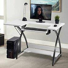 COSTWAY Computertisch mit hoehenverstellbarer