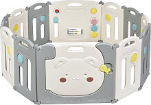 Costway Faltbares Laufgitter mit 12 Panels Baby