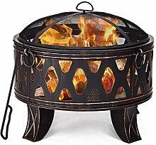 COSTWAY Feuerschale Garten Terrasse, Feuerstelle
