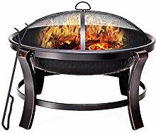 COSTWAY Feuerschale Grill, Feuerstelle Garten
