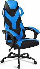 COSTWAY Gaming Stuhl, Massagestuhl mit Raedern,